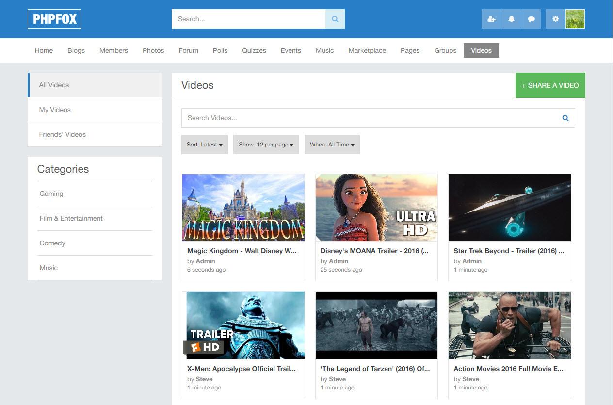 Video Landing Page