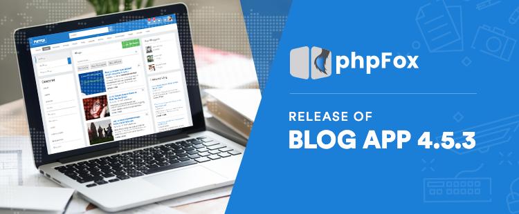Standalone Core Blog App v4.5.3 Released